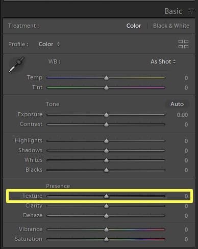 How To Use The Texture Slider in Lightroom Classic - Photo